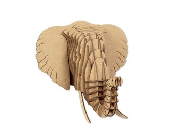Elephant Rhino and Giraffe DIY 3D puzzle Minikit Africa Trophy