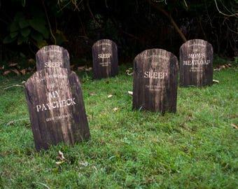 Custom Tombstone Yard Sign Set Of 2