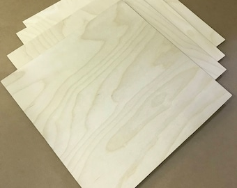 """Birch Plywood Squares/Blanks - 12""""x6"""" Pack of 15"""