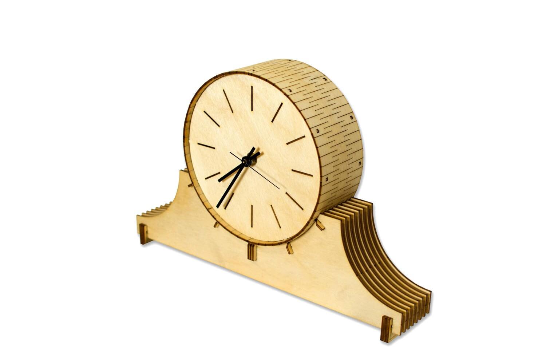 Cardboard Safari Living Hinge Wood Mantel Clock ANHO1035 Finish: Caramel Bamboo