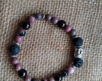Garnet & Rhodochrosite Healing stone Bracelet