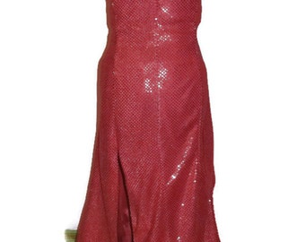 womens evening gown, Custom Cocktail Aurora Red Evening Dress,Sequin Gown,Classic Old Hollywood Designer Dress Made to Order in Many Colors