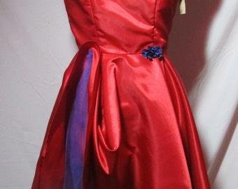 red dress, vintage style dress,wedding dress disney bound dress, party dress ,fashion women dress, elena costume dress,