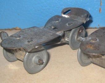 Vintage Doll Metal Roller Skates