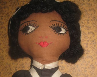 Beautifully Made Vintage Cloth Doll, New Brunswick, Canada