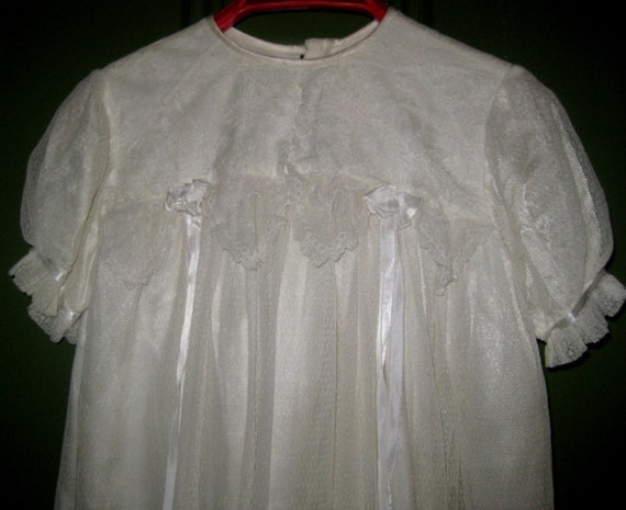 Stunning Vintage Lace Christening Gown, Baby Gown