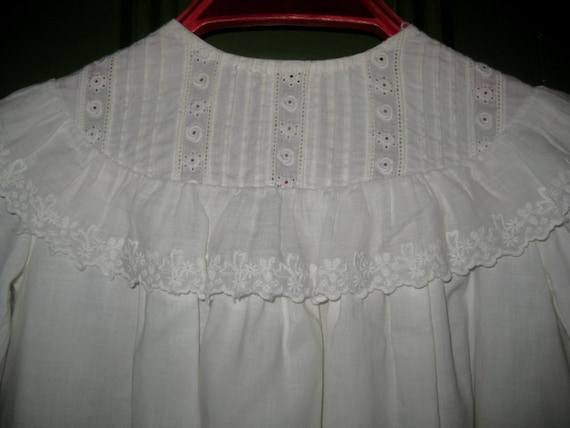 Antique Cotton Christening Gown, Baby Gown, Dress