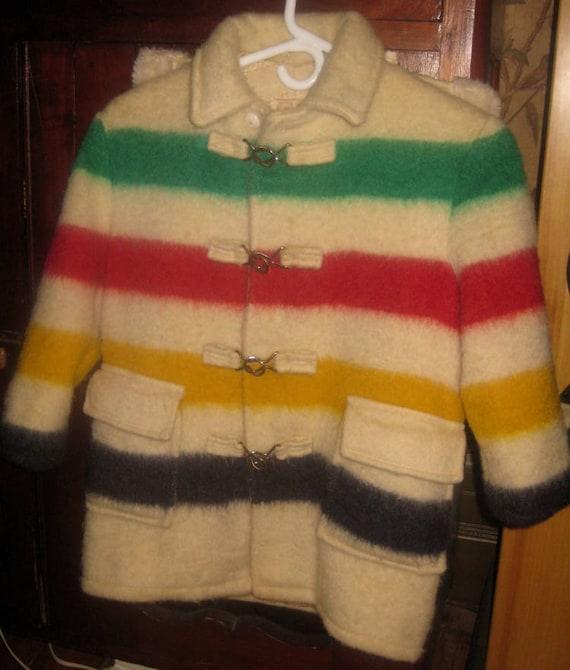 Wonderful Rare Canadian Child's Hudson Bay Blanket