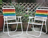 RESERVED Rainbow Chairs RESERVED