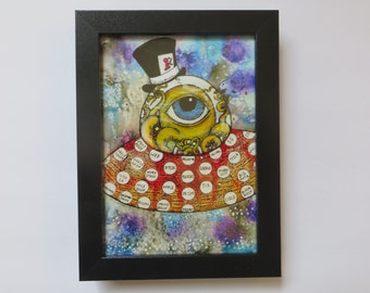 Mr. Global Framed Print of Art by Kelly Green