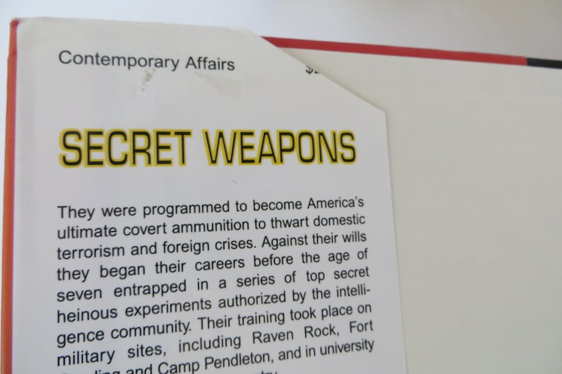 Secret Weapons Mind Control Conspiracy History MKULTRA MK Ultra Spies True  Story Non Fiction Hardcover