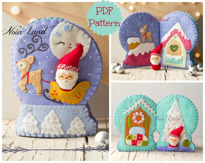 Christmas Snowglobe activity book. Soft book image 0