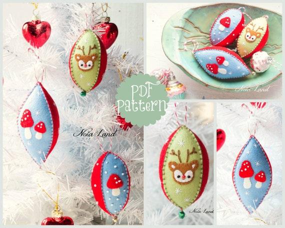 Vintage Style Christmas Ornaments.Pdf Pattern Vintage Style Christmas Felt Ornaments