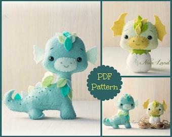 Dragons. PDF Pattern.