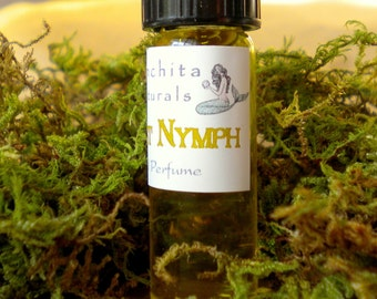 All Natural Botanical Perfume Oil with Pure Essential Oils - Sample Vial - On Sale - Forest Nymph, a Flirty, Earthy Scent