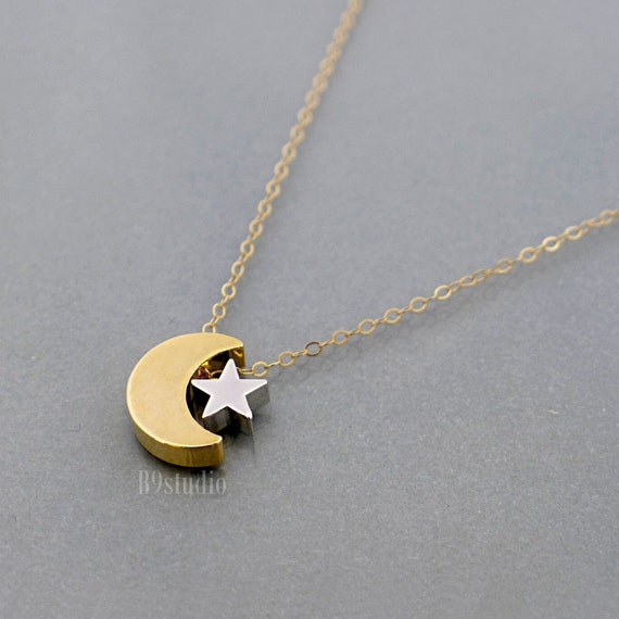 etsy collier lune