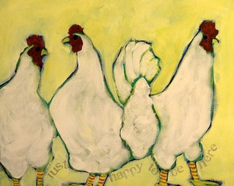 Chickens just Happy to be Here