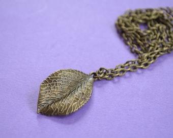 Leaf Antique Bronze Necklace Tree Leaves (AB21)
