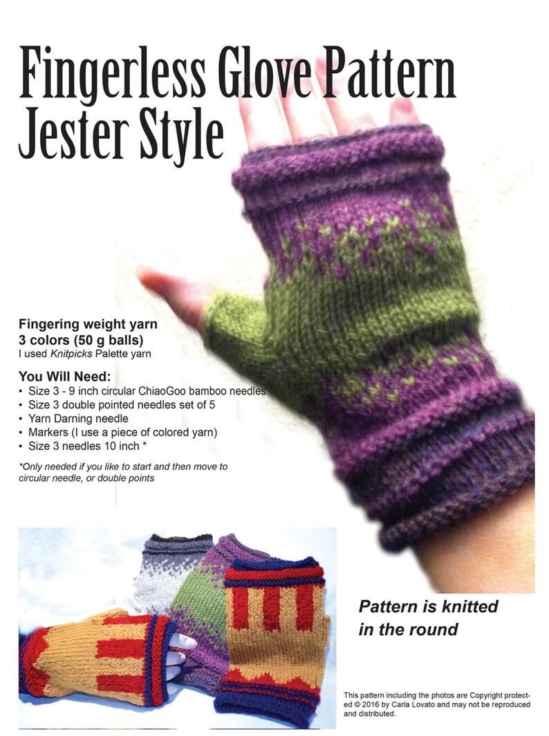 Gloves fingerless knitting Pattern Downloadable pattern  image 0