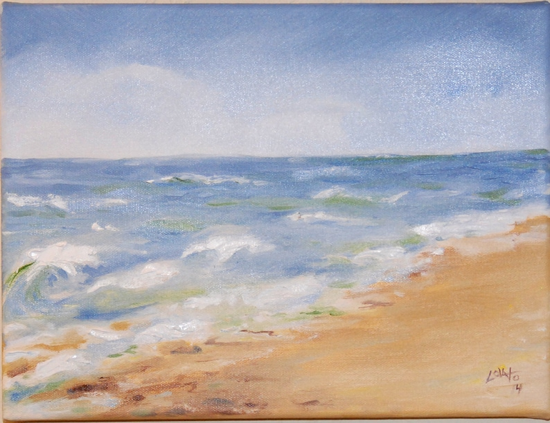 Ocean landscape Seascape original Painting Oregon coast image 0