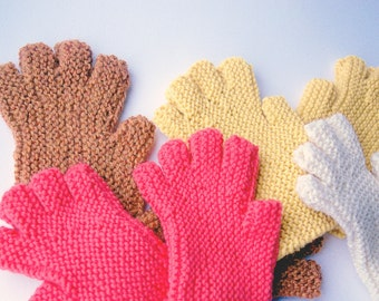 Fingerless Glove Pattern, Easy to knit, Worsted Weight, Downloadable pdf, knitting tutorial, mens gloves, women, teen, Christmas