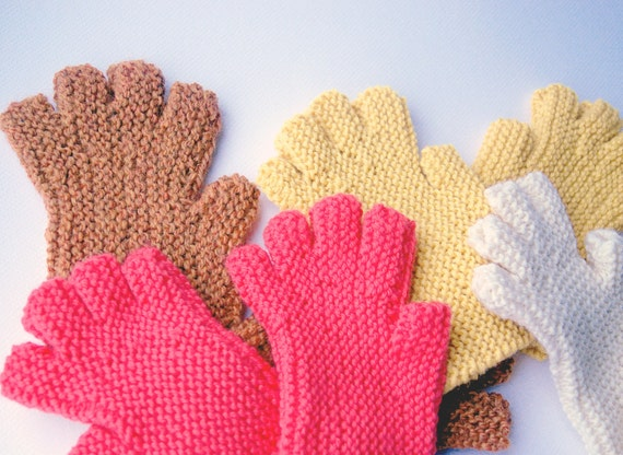 Fingerless Glove Pattern Easy To Knit Worsted Weight Etsy