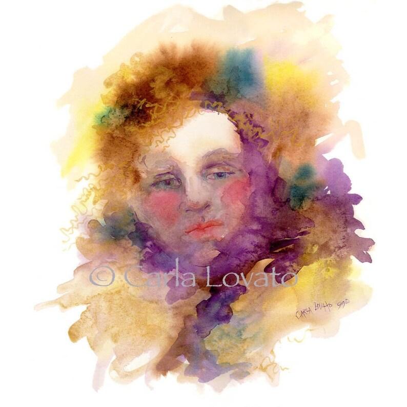 Watercolor Painting Spirit Art  Giclee Print    Titled Wisp image 0