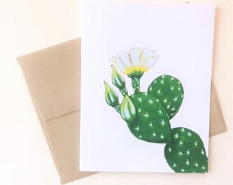 Prickly Pear Greeting Card, A2 art card, Sonoran Desert