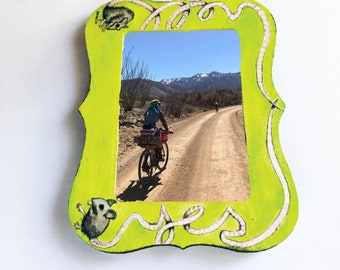 HELL YES hand painted Picture Frame, rat, one of a kind