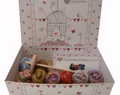 Heidifeathers Boxed Spinning Kit Merino Bamboo Blend Wool Tops Roving