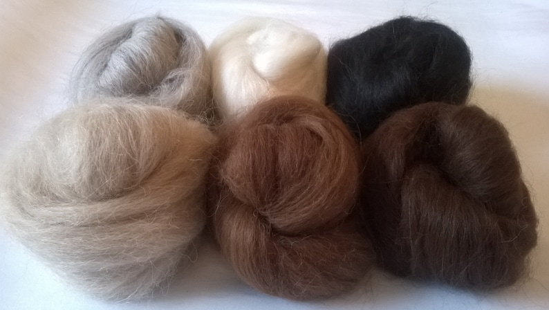 Heidifeathers® Baby Alpaca Felting Spinning Wool Tops Choose From 6 Shades
