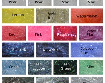 Angelina Fibres - Fuseable Fibres - 21 Colours to Choose From, Choose 3 or 5 Bags