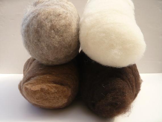Spinning Core Wool Cloud Heidifeathers® Carded British Wool Batts Soft Felting
