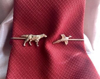 859a7dc89b11 Vintage Hunting Tie Clip, Dog Tie Clip, Pierced Look Hunting Tie Bar,  Hickok Hunting Dog Tie Clip, Adjustable Pierced Look Tie Bar