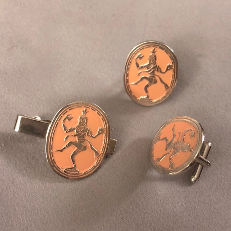 27a03b857048 Vintage Swank 1953 Bali Siam Dancer Cuff Links and tie Clip | Etsy