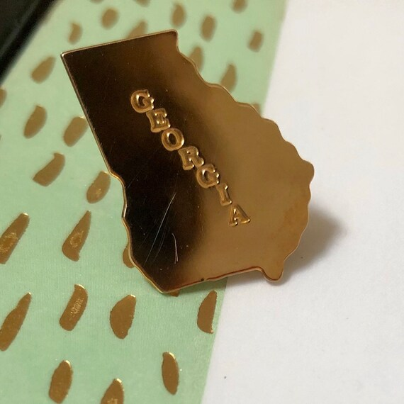 Gold Georgia pin, Georgia travel, Georgia gift, Ge