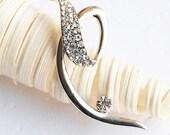SALE Rhinestone Brooch Component Crystal Flower Bridal Hair Comb Shoe Clip Pin Wedding Cake Decoration Invitation BR033