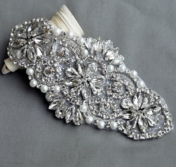 Rhinestone Applique Bridal Accessories Crystal Trim Rhinestone  a345a0ae70d1
