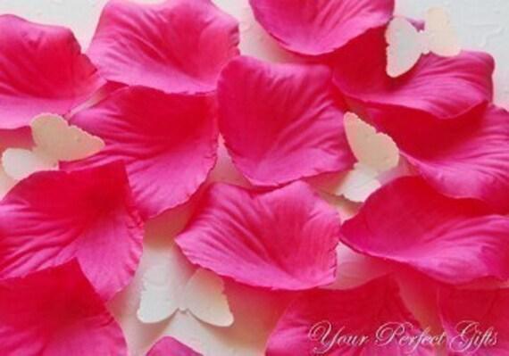 1000 pcs fuchsia hot pink silk rose petals wedding flower etsy image 0 mightylinksfo