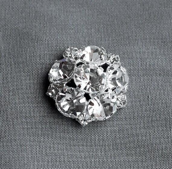 Rhinestone 5 botones redondo círculo Diamante Cristal flor  dd52936b8d4b