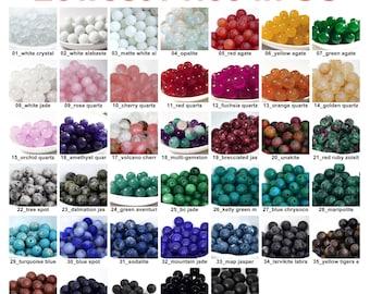 Wholesale Lot Natural Gemstone Round Spacer Loose Beads 8mm Crystal Quartz Fluorite Lapis Jasper Jade Rock Onxy Agate GB998