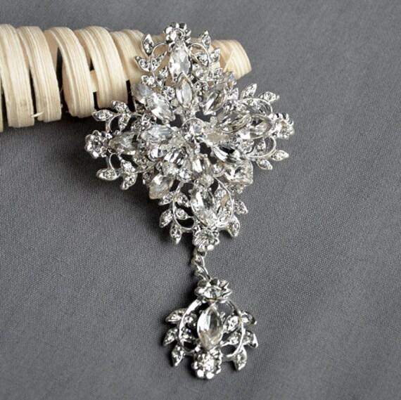Diamante Vintage Plata Broche Zapato Pin Flor nupcial Pastel Decoración New Reino Unido
