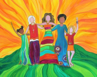 We Are All In This Together- Original Painting Print- Many Sizes Available