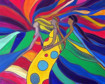 Women of Courage 8- Original Acrylic Abstract Painting PRINT- Many Sizes Available