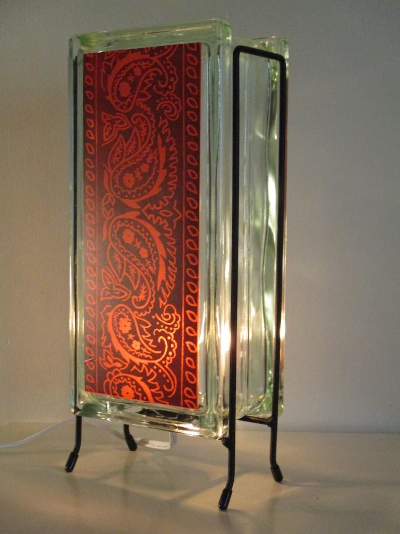 Modern Farmhous Bandana kitchen night light eco-friendly glass block bandana lamp