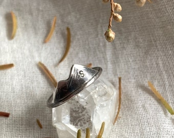 Stackable Mountain Ring // Personalized Ring / Personalized mountain silver ring / Mountain Lover's  / Mountain Jewelry / Friendship Ring