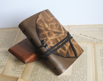 personalized brown travel leather journal, leather diary, leather notebook, pocket diary, blank book, vintage style notebook