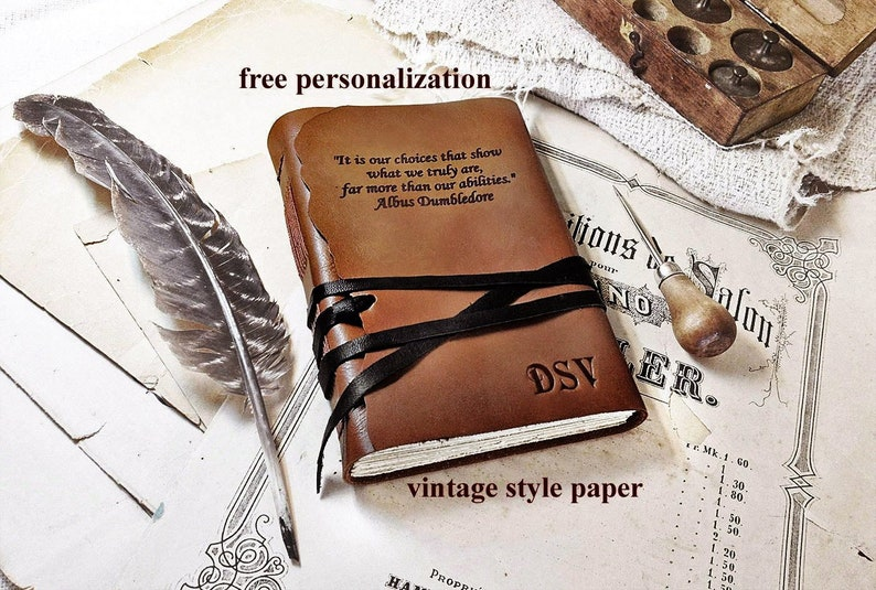 personalized leather journal large personalized journal image 0