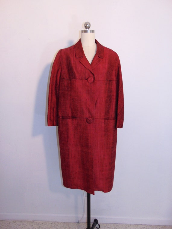 60s raw SILK Mod coat Star of Siam Hong Kong size