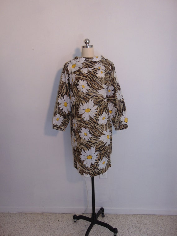60s MOD Daisy print shift dress size medium